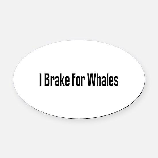 Cute Brake whales Oval Car Magnet