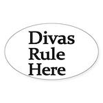 Divas Rule Here Sticker