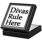 Divas Rule Here Keepsake Box