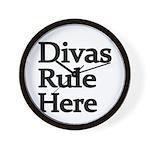 Divas Rule Here Wall Clock