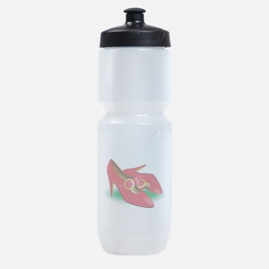 red-heels.png Sports Bottle