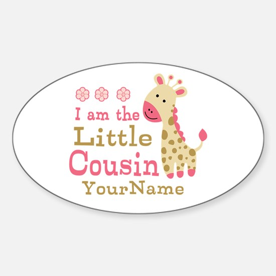 I am the Little Cousin Personalized Sticker (Oval)