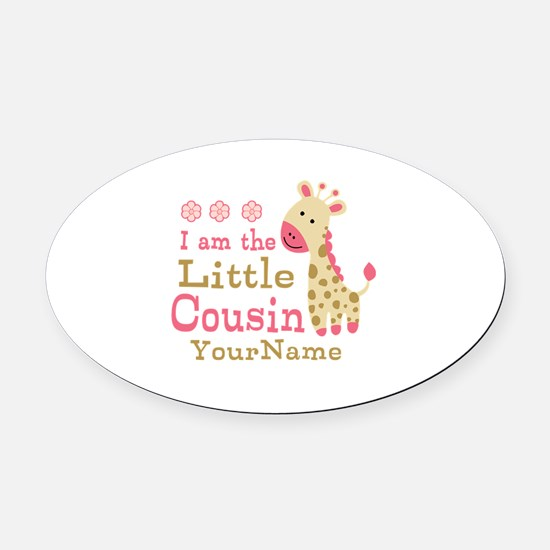 I am the Little Cousin Personalized Oval Car Magne