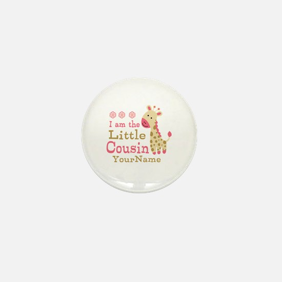 I am the Little Cousin Personalized Mini Button