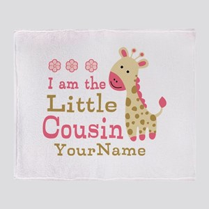 I am the Little Cousin Personalized Throw Blanket