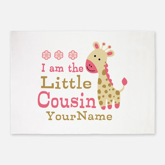 I am the Little Cousin Personalized 5'x7'Area Rug