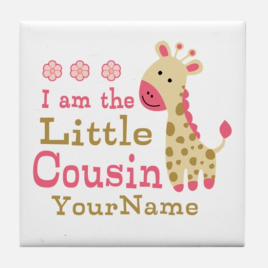 I am the Little Cousin Personalized Tile Coaster