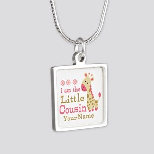 I am the Little Cousin Personalized Silver Square