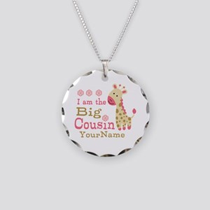 Pink Giraffe Big Cousin Personalized Necklace Circ