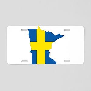 Swede Home Minnesota Aluminum License Plate