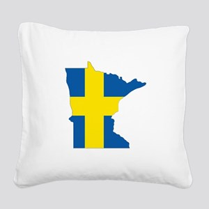 Swede Home Minnesota Square Canvas Pillow