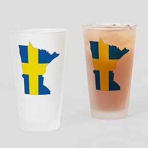 Swede Home Minnesota Drinking Glass