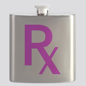 Pink Rx Symbol Flask