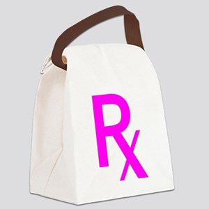 Pink Rx Symbol Canvas Lunch Bag