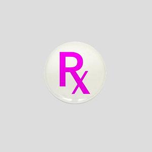 Pink Rx Symbol Mini Button