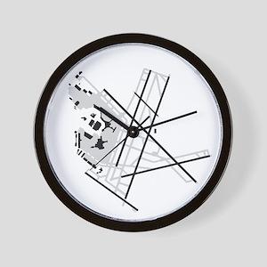 BOS Airport Wall Clock