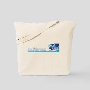 California Wave (Dark) Tote Bag