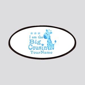 Blue Giraffe Personalized Big Cousin Patches