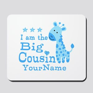 Blue Giraffe Personalized Big Cousin Mousepad