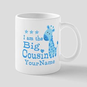 Blue Giraffe Personalized Big Cousin Mug