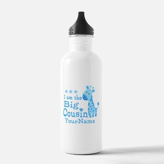 Blue Giraffe Personalized Big Cousin Water Bottle