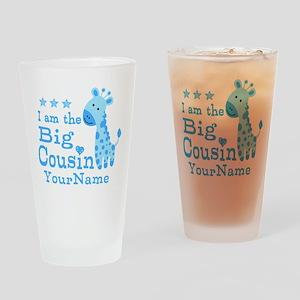 Blue Giraffe Personalized Big Cousin Drinking Glas
