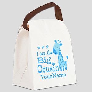 Blue Giraffe Personalized Big Cousin Canvas Lunch