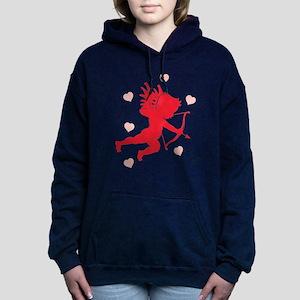 cupid,hearts Hooded Sweatshirt