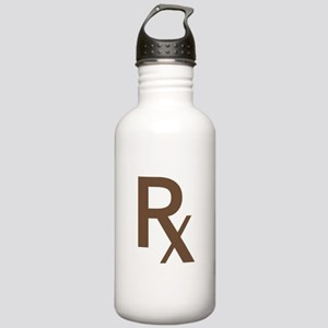 Brown Rx Symbol Stainless Water Bottle 1.0L