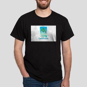 California Beach Dark T-Shirt