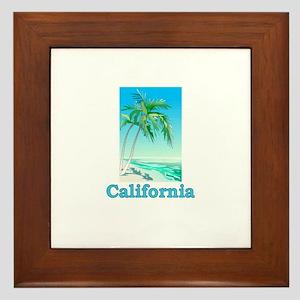 California Beach Framed Tile