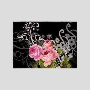 Rose Elegance 5'x7'Area Rug