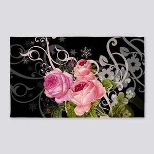 Rose Elegance 3'x5' Area Rug