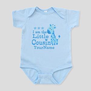 Blue Giraffe Personalized Little Cousin Infant Bod