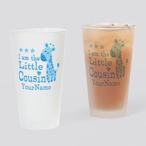 Blue Giraffe Personalized Little Cousin Drinking G