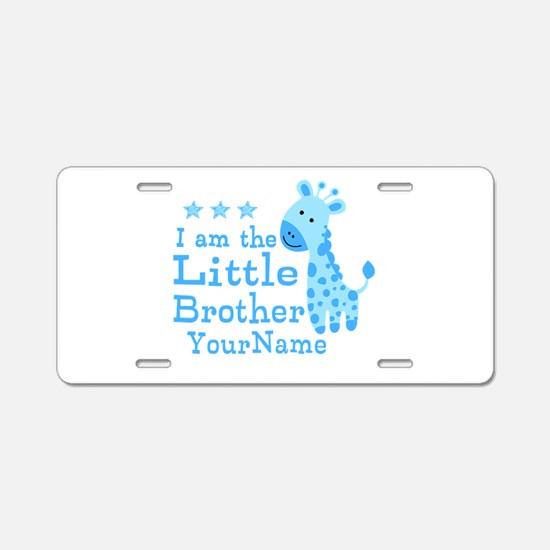 Little Brother Blue Giraffe Personalized Aluminum