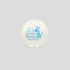 Little Brother Blue Giraffe Personalized Mini Butt