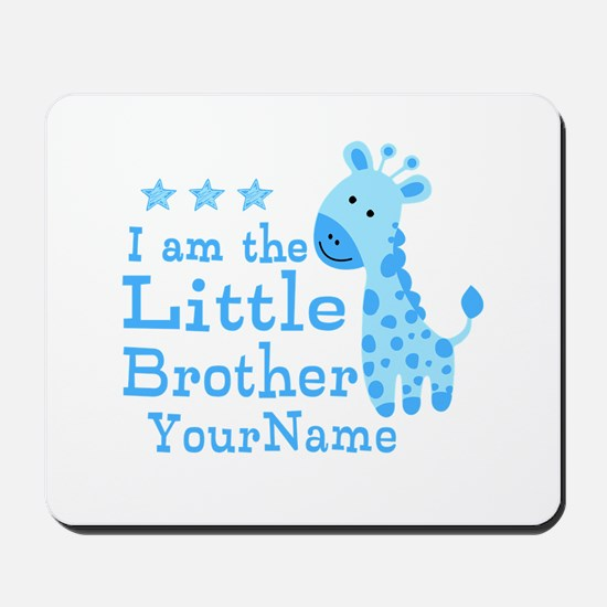 Little Brother Blue Giraffe Personalized Mousepad