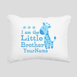 Little Brother Blue Giraffe Personalized Rectangul