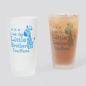 Little Brother Blue Giraffe Personalized Drinking