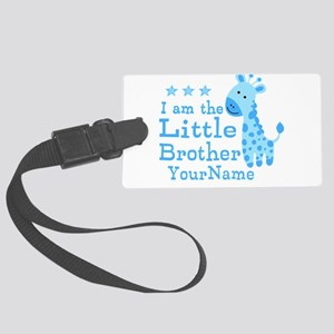 Little Brother Blue Giraffe Personalized Large Lug