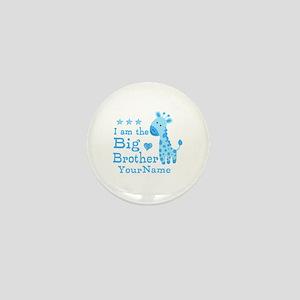 Giraffe Big Brother Personalized Mini Button