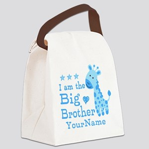 Giraffe Big Brother Personalized Canvas Lunch Bag