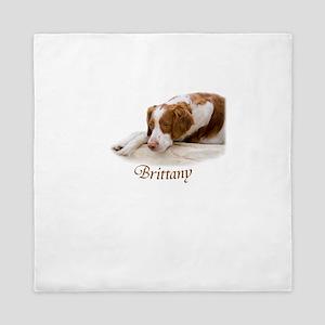 Brittany Dog Breed Queen Duvet