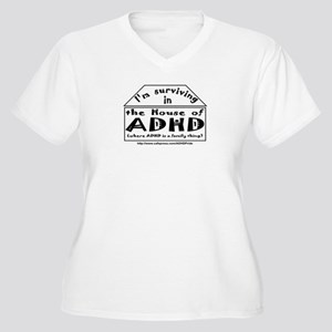 House of ADHD women's plus-size V-neck T