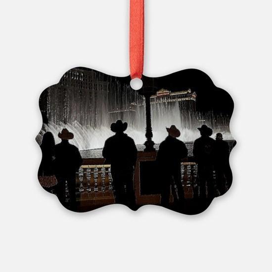 12x12 cowboy christmas 2013 Ornament