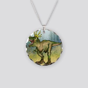 Dylan the T-Rex Necklace Circle Charm