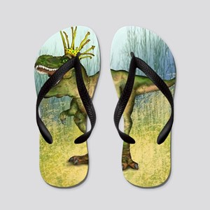 Dylan the T-Rex Flip Flops