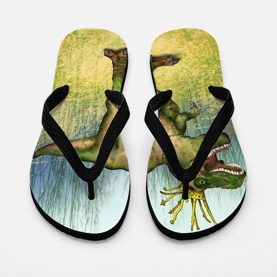 Dylan the T-Rex Flip Flops