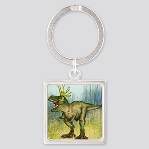Dylan the T-Rex Square Keychain